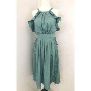 Rebecca Taylor Green Silk Blend Dress Size 4